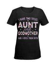 Rockin' Aunt and Godmother Ladies T-Shirt women-premium-crewneck-shirt-front