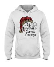 Santa's favorite Service Manager Hooded Sweatshirt front