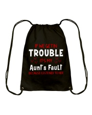 Cute aunt and nephew trouble Drawstring Bag thumbnail