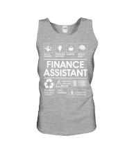 Finance Assistant Unisex Tank thumbnail