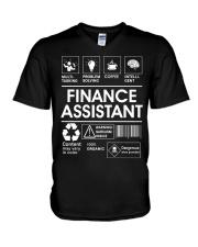 Finance Assistant V-Neck T-Shirt thumbnail