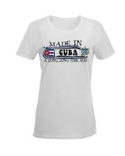Made in Cuba along time ago Ladies T-Shirt women-premium-crewneck-shirt-front