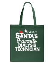 Santa's favorite Dialysis Technician Tote Bag thumbnail