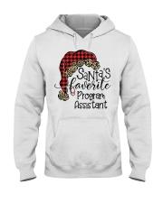 Santa's favorite Program Assistant Hooded Sweatshirt front