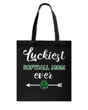 Luckiest Softball Mom Ever Tote Bag thumbnail