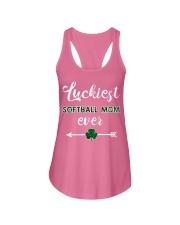 Luckiest Softball Mom Ever Ladies Flowy Tank thumbnail