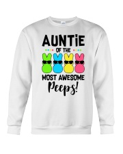 Auntie of the most awesome peeps Crewneck Sweatshirt thumbnail