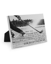 Thank you dad - Hockey Easel-Back Gallery Wrapped Canvas tile