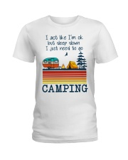 Camping Ladies T-Shirt front