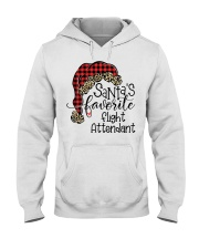 Santa's favorite Flight Attendant Hooded Sweatshirt front