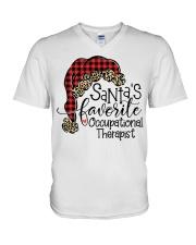 Santa's favorite Occupational Therapist V-Neck T-Shirt tile