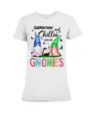 Chillin' with my gnomies Premium Fit Ladies Tee thumbnail