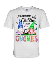 Chillin' with my gnomies V-Neck T-Shirt thumbnail
