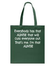 I'm that sarcastic Auntie Tote Bag thumbnail