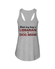 Kinda busy being an Librarian and Dog Mom Ladies Flowy Tank thumbnail