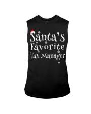 Santa's favorite Tax Manager Sleeveless Tee thumbnail