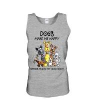 Dogs make me happy Unisex Tank thumbnail