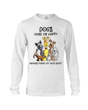 Dogs make me happy Long Sleeve Tee thumbnail