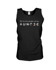 My favorite people call me auntie Unisex Tank thumbnail