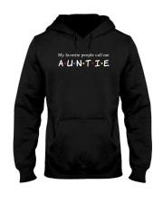 My favorite people call me auntie Hooded Sweatshirt thumbnail