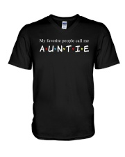 My favorite people call me auntie V-Neck T-Shirt thumbnail