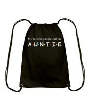 My favorite people call me auntie Drawstring Bag thumbnail