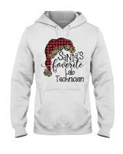Santa's favorite Lab Technician Hooded Sweatshirt front