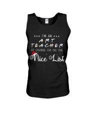 Art Teacher on nice list Unisex Tank thumbnail