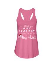 Art Teacher on nice list Ladies Flowy Tank thumbnail