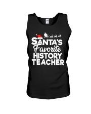 Santa's favorite History Teacher Unisex Tank thumbnail