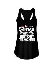Santa's favorite History Teacher Ladies Flowy Tank thumbnail