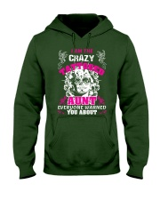 The crazy aunt loves tattoos Hooded Sweatshirt front