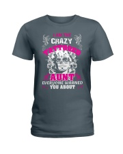 The crazy aunt loves tattoos Ladies T-Shirt thumbnail