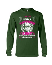 The crazy aunt loves tattoos Long Sleeve Tee front