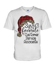 Customer Service Associate V-Neck T-Shirt tile