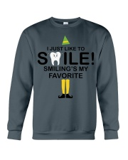 Smiling is my favorite Crewneck Sweatshirt thumbnail