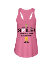 Smiling is my favorite Ladies Flowy Tank thumbnail