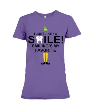 Smiling is my favorite Premium Fit Ladies Tee thumbnail