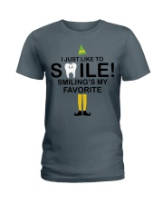 Smiling is my favorite Ladies T-Shirt tile