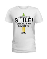 Smiling is my favorite Ladies T-Shirt front