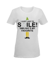 Smiling is my favorite Ladies T-Shirt women-premium-crewneck-shirt-front