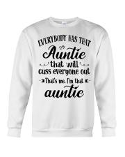Auntie who cuss a lot Crewneck Sweatshirt thumbnail