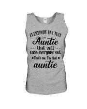Auntie who cuss a lot Unisex Tank thumbnail