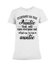 Auntie who cuss a lot Premium Fit Ladies Tee thumbnail