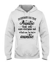 Auntie who cuss a lot Hooded Sweatshirt thumbnail
