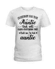 Auntie who cuss a lot Ladies T-Shirt front