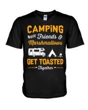 Camping get toasted V-Neck T-Shirt thumbnail