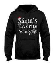 Santa's Favorite Norwegian Hooded Sweatshirt front