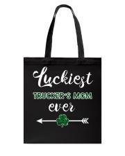 Luckiest Trucker Mom Ever Tote Bag thumbnail