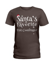 Santa's favorite Unit Coordinator Ladies T-Shirt thumbnail